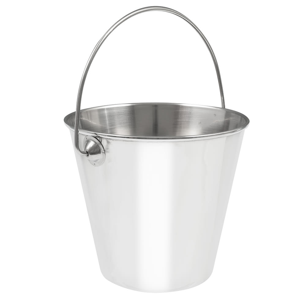 "American Metalcraft SSP43 5"" Mini Pail, Mirror Finish, Stainless"