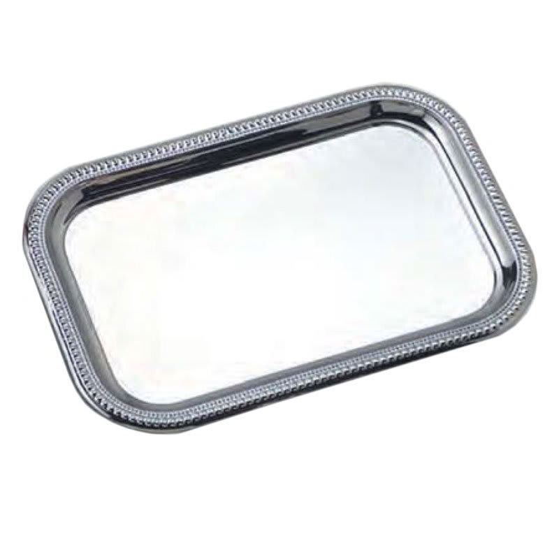 "American Metalcraft SSTRT22 Rectangular Serving Tray - 18x12x.87"", Stainless"