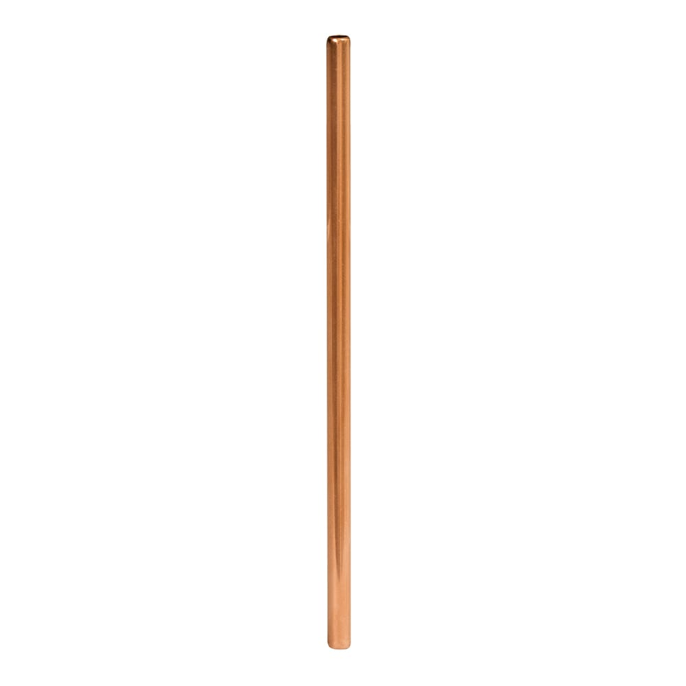"""American Metalcraft STWC6 6"""" Straight Metal Straw - Stainless Steel, Copper"""