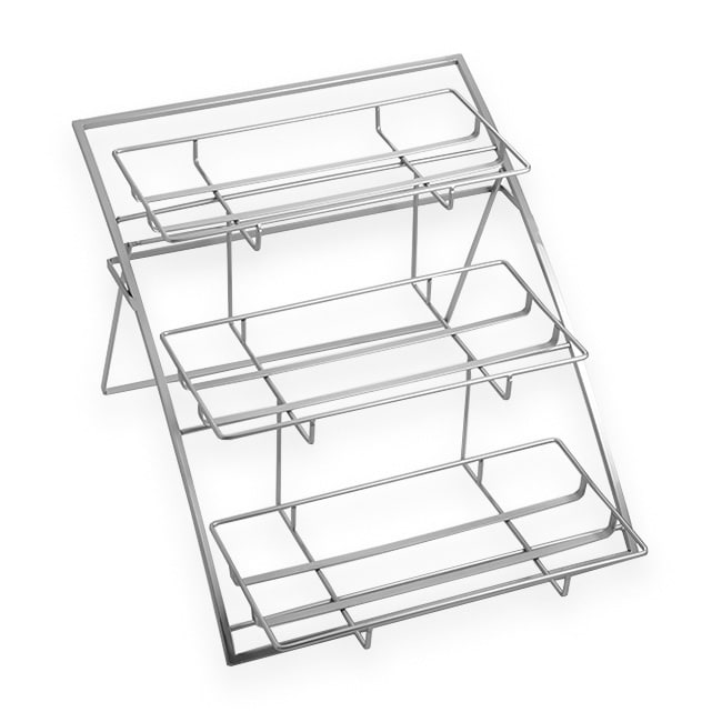 """American Metalcraft TASLG 3-Tier Arched Display Stand, 21"""" x 15.25"""" x 12.75"""", Chrome"""