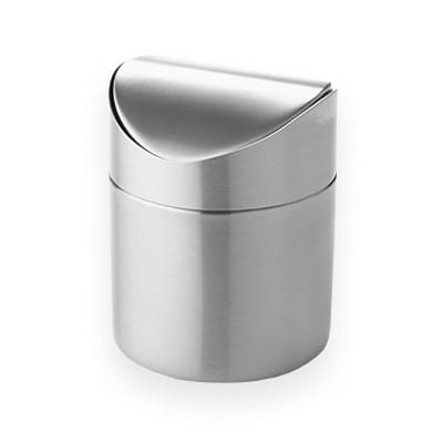 American Metalcraft TIM3 Round Waste Basket - Metal, Stainless