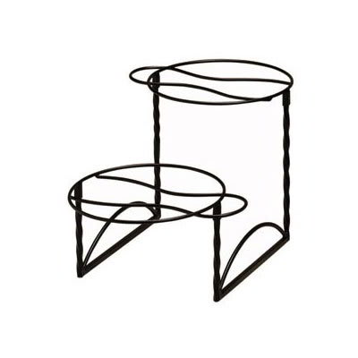 """American Metalcraft TLTS1224 2-Tier Display Stand w/ Handle On Opposite Side, 12x24"""", Wrought Iron/Black"""