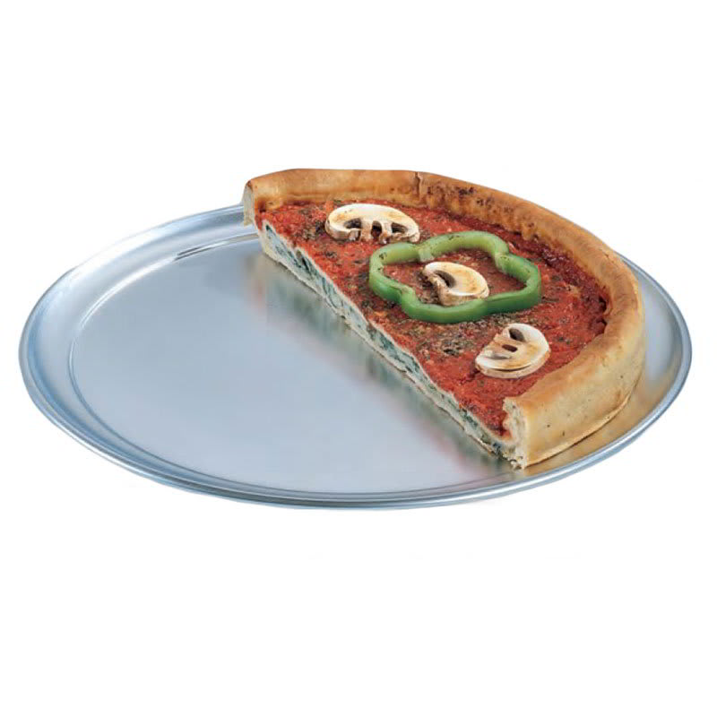 "American Metalcraft TP11 11"" Wide Rim Pizza Pan, Solid, Aluminum"