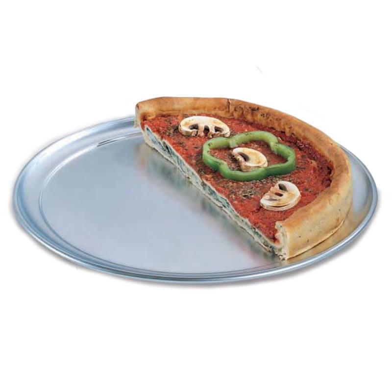"American Metalcraft TP16 16"" Wide Rim Pizza Pan, Solid, Aluminum"