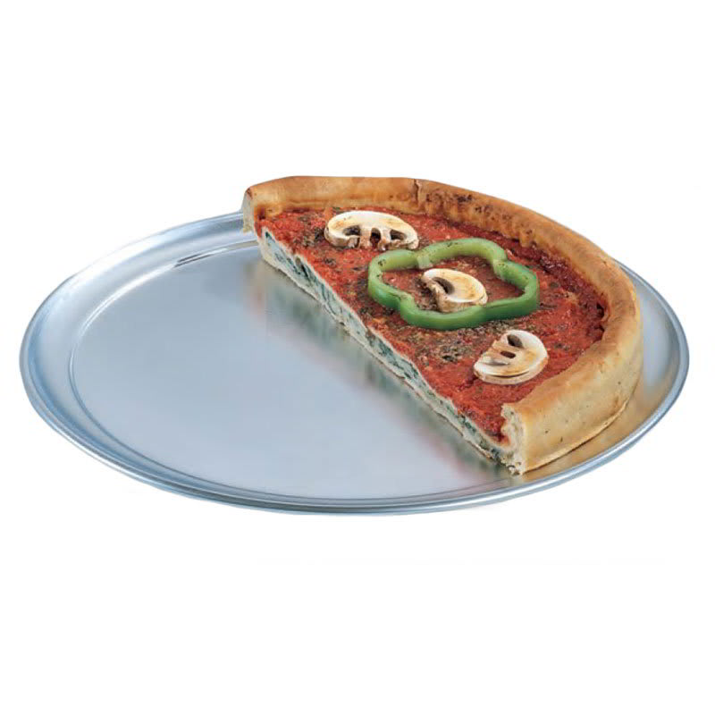 "American Metalcraft TP17 17"" Wide Rim Pizza Pan, Solid, Aluminum"