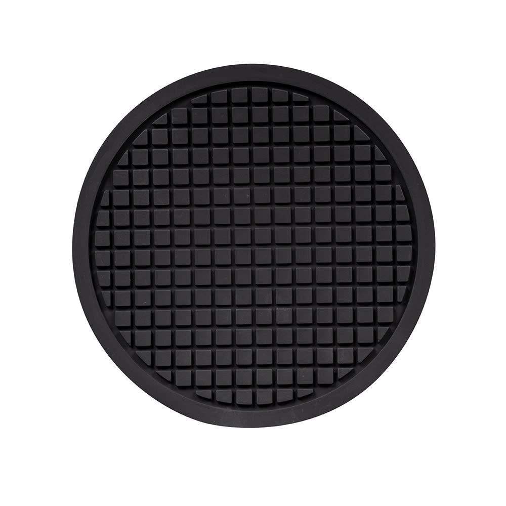 "American Metalcraft TRVR675 6.75"" Round Trivet - Silicone, Black"
