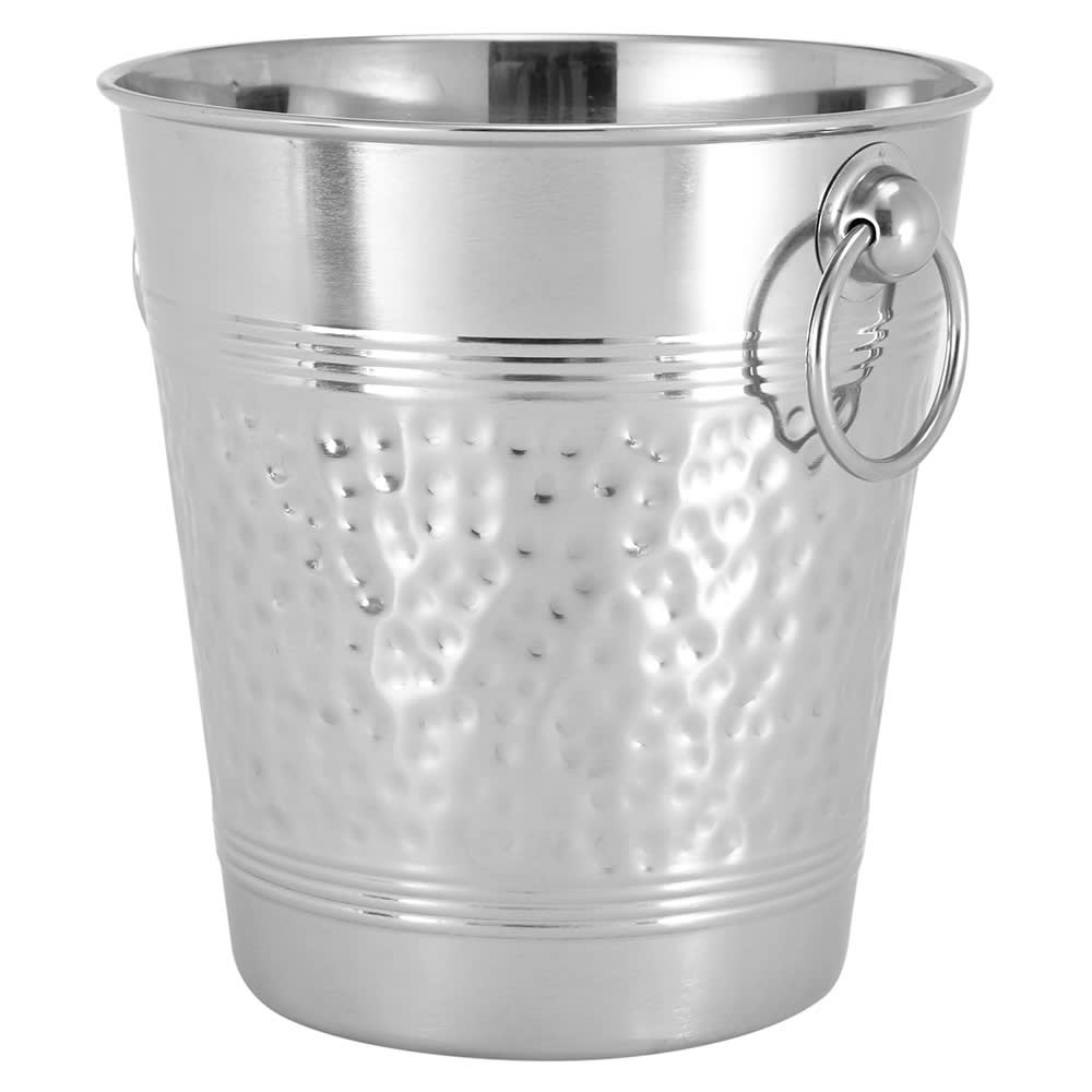 "American Metalcraft WB9 8.37"" Wine Bucket, Hammered Finish, Stainless"
