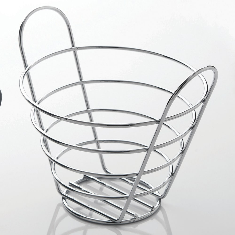 "American Metalcraft WBC705 7"" Round Basket, Wire/Chrome"