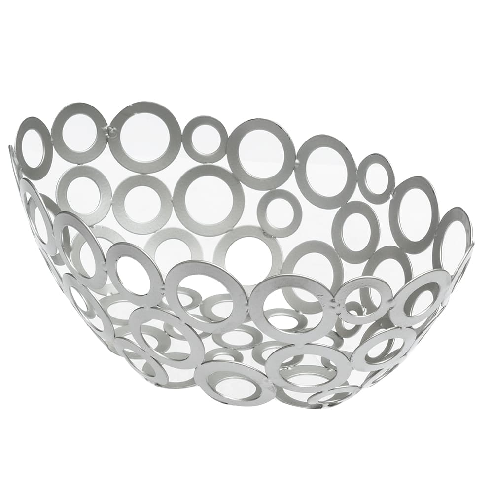 American Metalcraft WCW69 Oval Basket w/ Ring Design, Silver