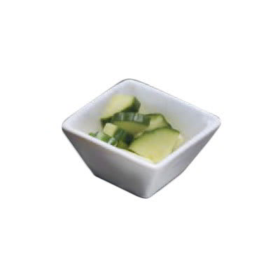 "American Metalcraft WFB3 3"" Square Bowl w/ 3 oz Capacity, White/Porcelain"