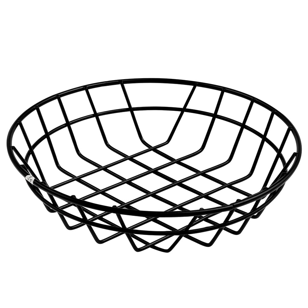 "American Metalcraft WIB80 8"" Wire Basket, Black"
