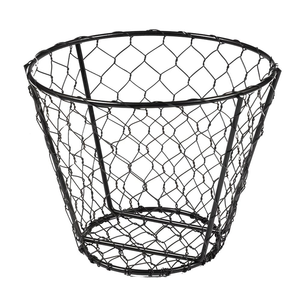 """American Metalcraft WIR2 Wire Basket, 7x5.5"""", Black"""