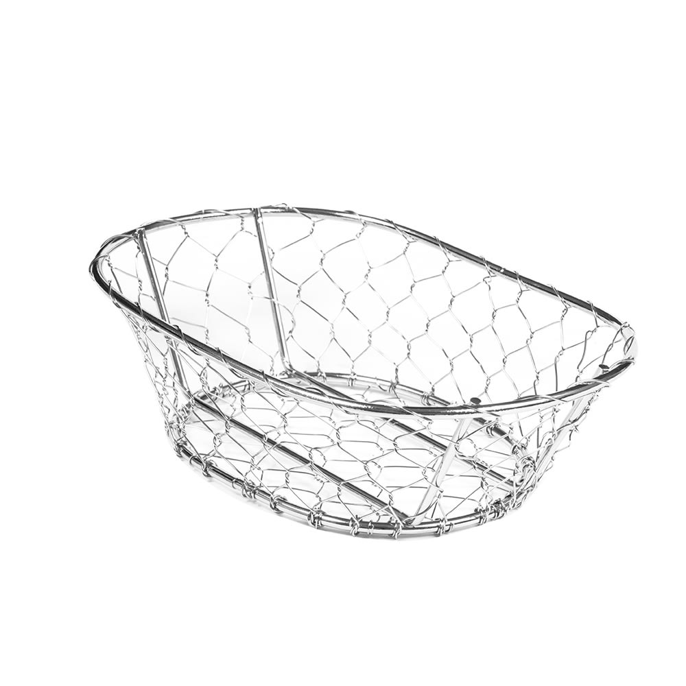 "American Metalcraft WIR3 Wire Basket, 9.5x2.5"", Chrome"