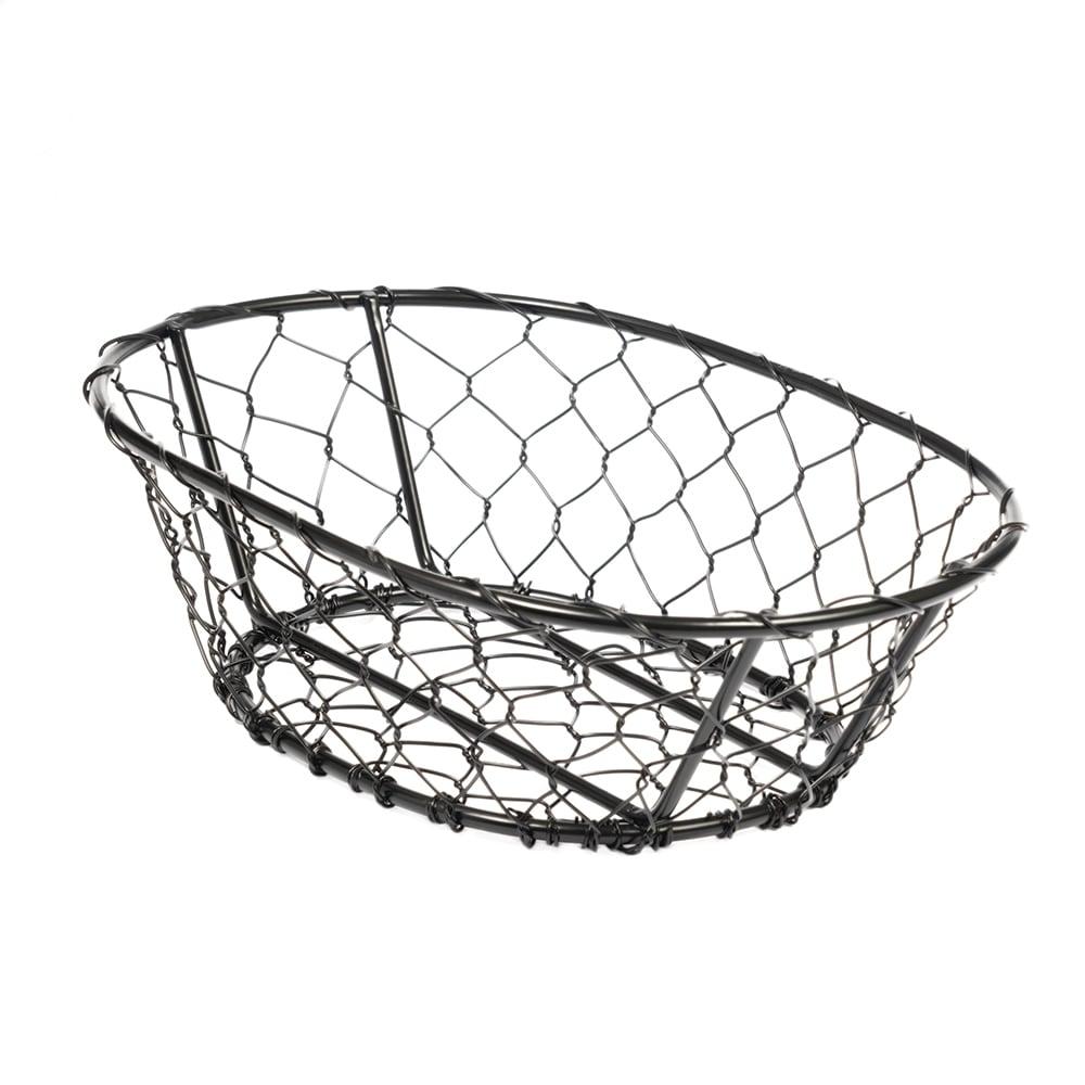 """American Metalcraft WIR4 Wire Basket, 9.5x2.5"""", Black"""