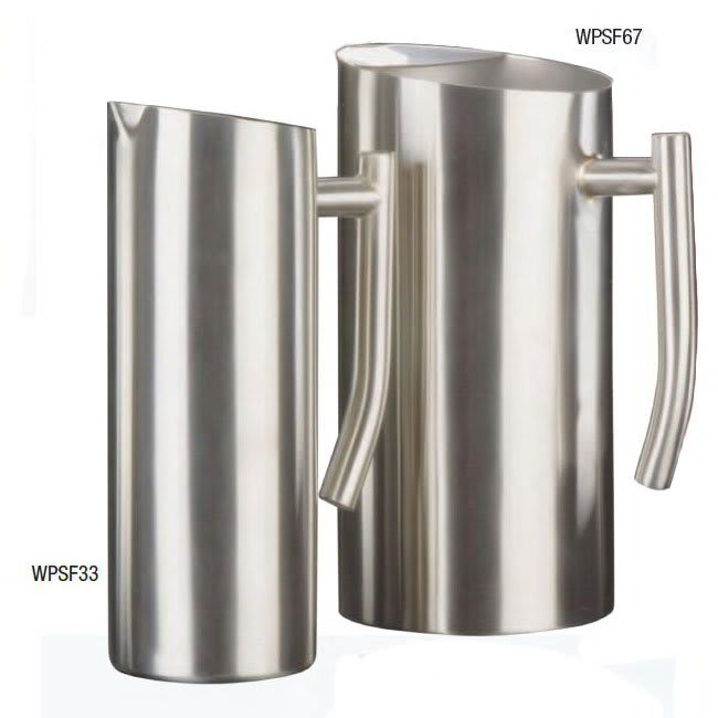 American Metalcraft WPSF67 Contemporary Water Pitcher w/ 67 oz Capacity, Satin/Stainless