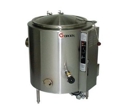 Groen AH/1E-60 Kettle, 60 Gallon, S/S Liner & Insulated Body, 2/3 Jacket, SS, Gas
