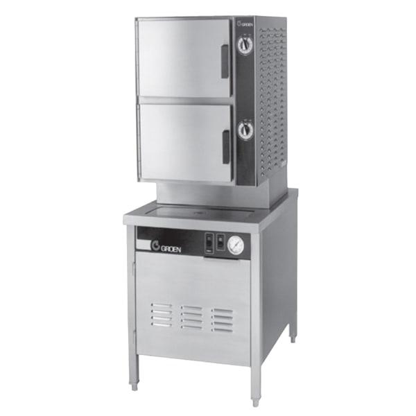 Groen HY-6SG-24 Gas Floor Model Steamer w/ (6) Full Size Pan Capacity, NG