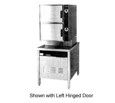 Groen HY-6SM Direct Steam Floor Model Steamer w/ (6) Full Size Pan Capacity, 120v