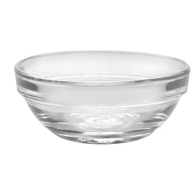"Duralex 2021AC04/4 3"" Stackable Bowl w/ Impact & Chip Resistant, 4-Set, Glass"