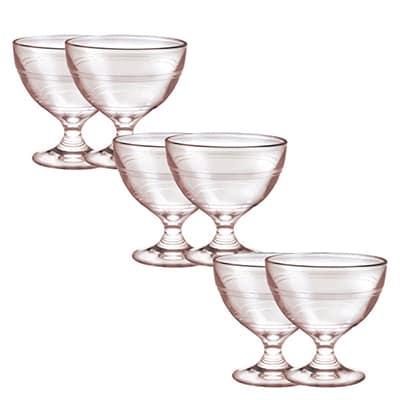 Duralex 5002EB06/6 8.75-oz Gigogne Ice Cream Cup, Glass, Pink