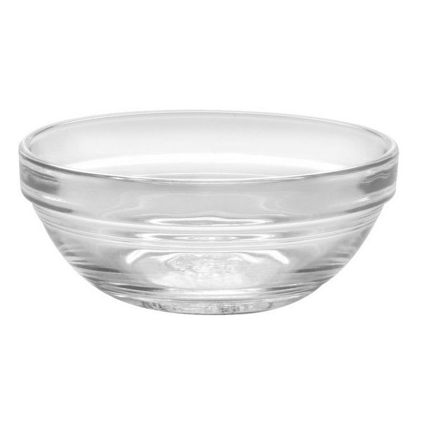"Duralex 511740M93 7-7/8""Lys Mixing Bowl w/ Stackable Rim, Clear"