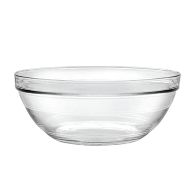 "Duralex 511760M91 10 1/4""Lys Mixing Bowl w/ Stackable Rim, Clear"