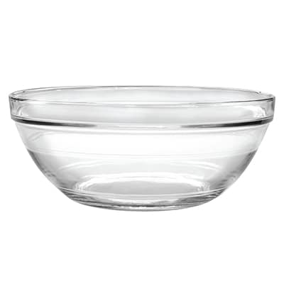 "Duralex 511770F25 12""Lys Mixing Bowl w/ Stackable Rim, Clear"
