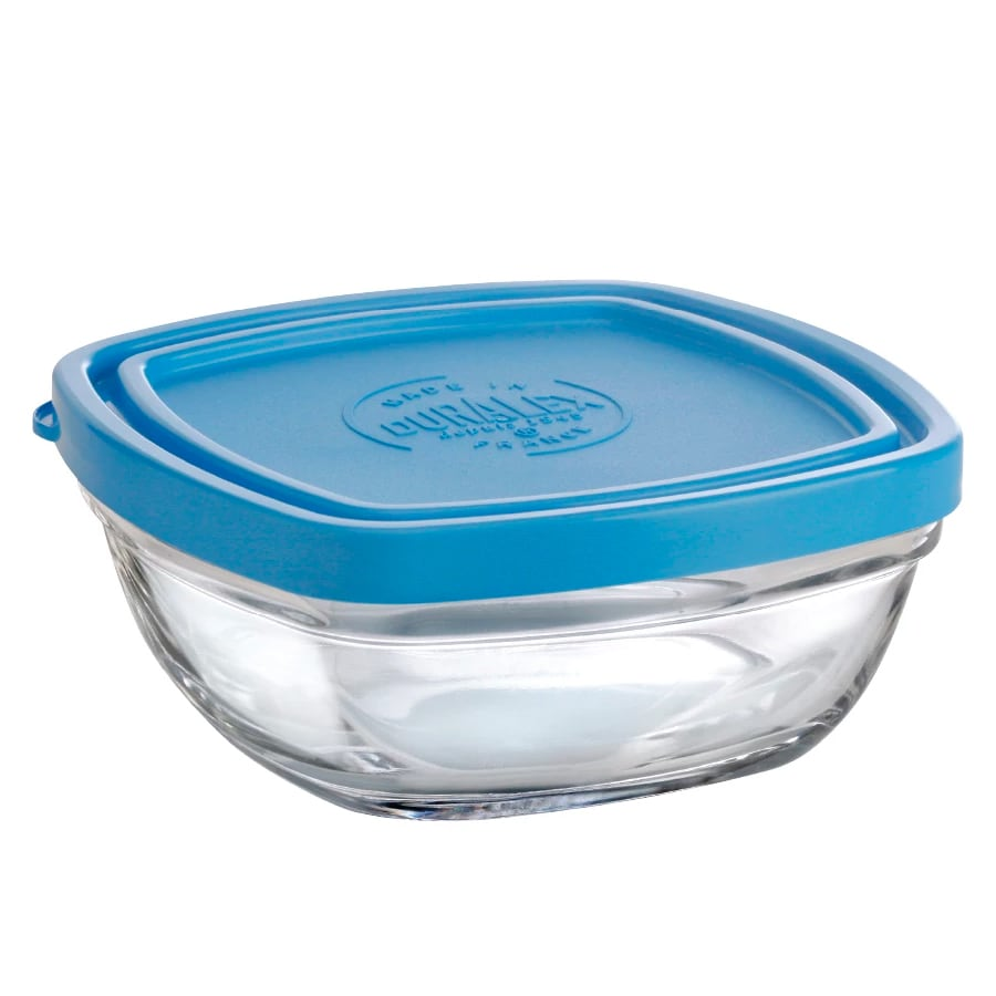 "Duralex 513050AB1 4-3/8""Lys Square Bowl With Lid"