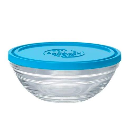 Duralex 9067AM06 1.5 qt Lys Round Storage Bowl w/ Lid, Glass
