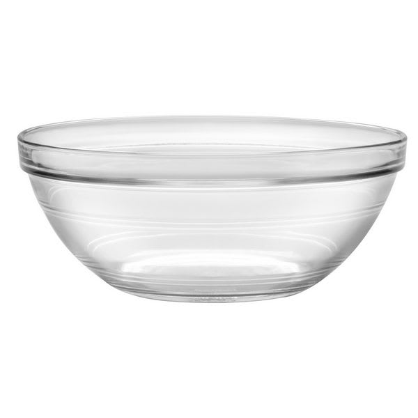 "Duralex 2028AF06 9"" Lys Stackable Bowl, Clear"