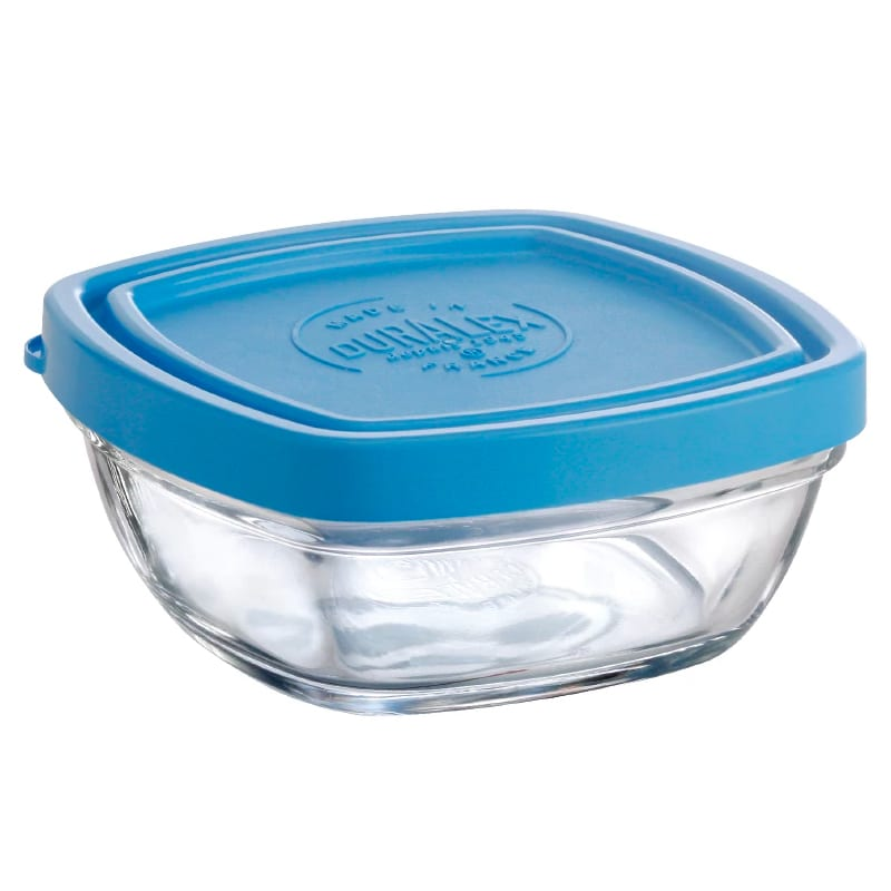 "Duralex A2820CAB1 3-1/2""Lys Square Bowl With Lid"