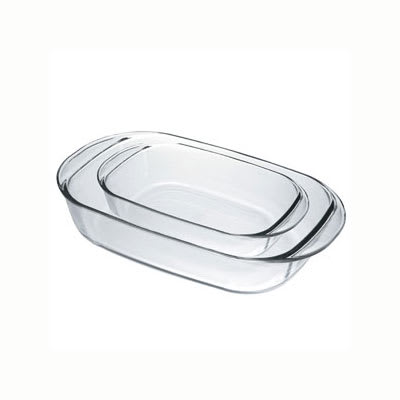 Duralex OC1/2 Rectangular Baking Dish Set - (1) 2.6 qt & (1) 5 qt, Glass
