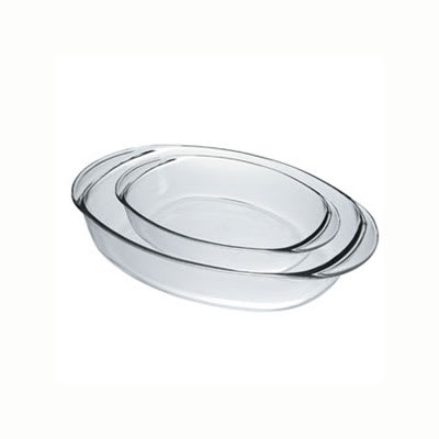 Duralex OC2/2 Oval Baking Dish Set - (1) 3.3-qt & (1) 5.3-qt, Glass
