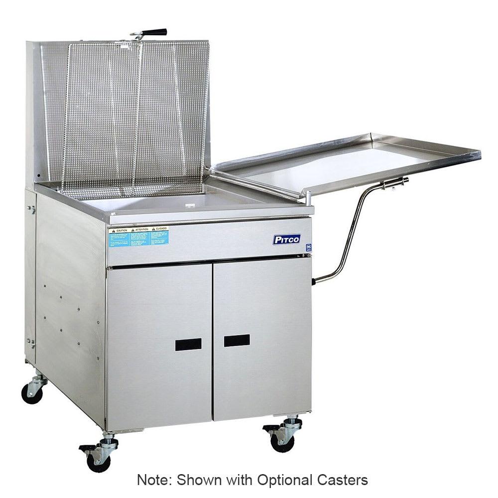 Pitco 24P Gas Fryer - (1) 150-lb Vat, Floor Model, NG