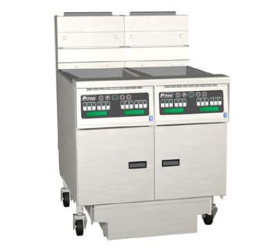 Pitco 2-SG18C-S/FD Gas Fryer - (2) 90-lb Vat, Floor Model, NG