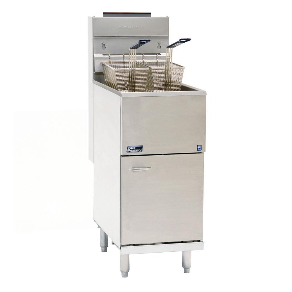Pitco 35C+S Gas Fryer - (1) 40-lb Vat, Floor Model, NG