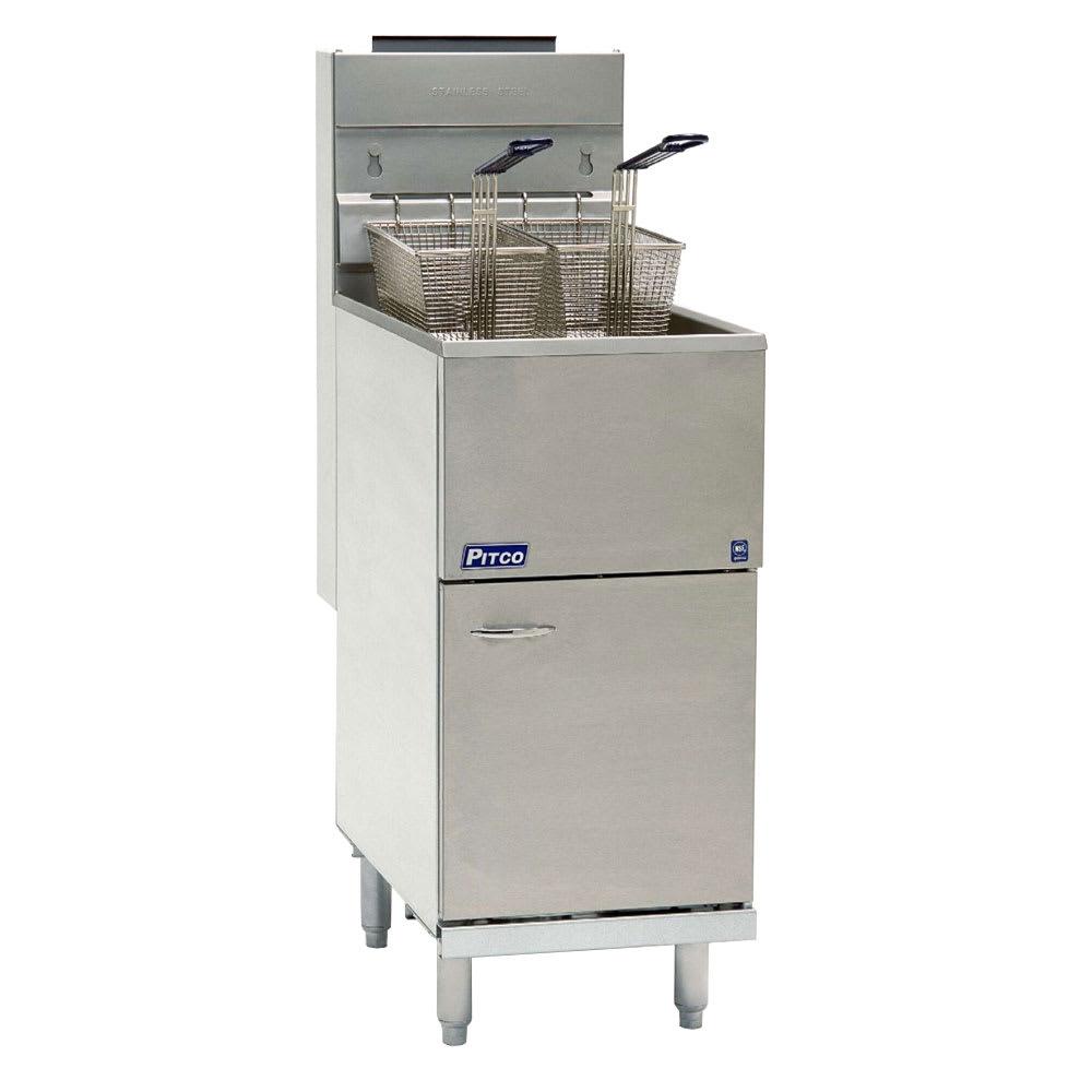 Pitco 45C+S Gas Fryer - (1) 50 lb Vat, Floor Model, NG