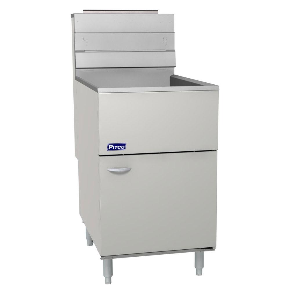 Pitco 65C+S Gas Fryer - (1) 80 lb Vat, Floor Model, LP