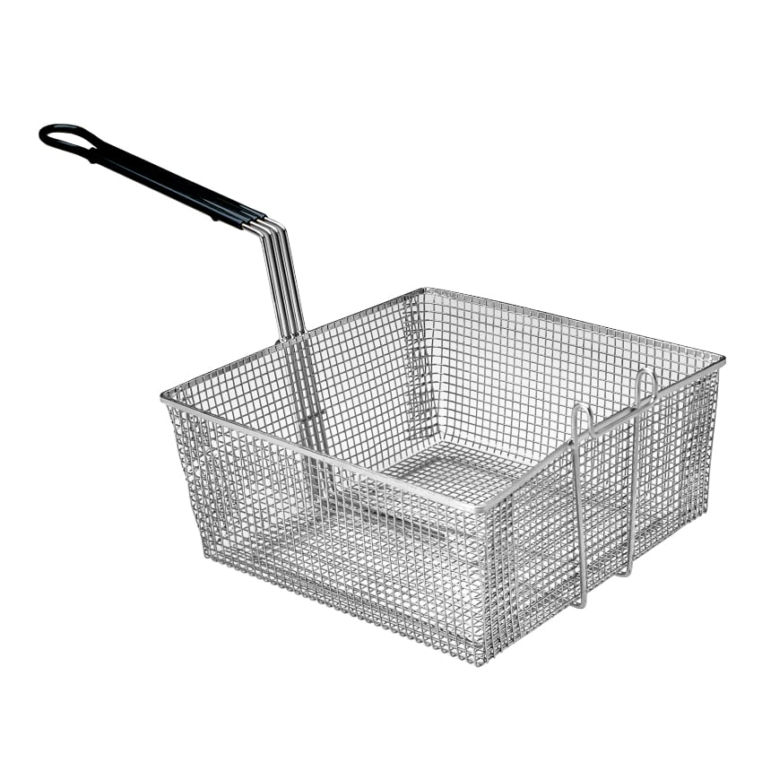 "Pitco P6072181 Fryer Basket w/ Uncoated Handle & Front Hook, 17.5"" x 16.75"" x 5.75"""