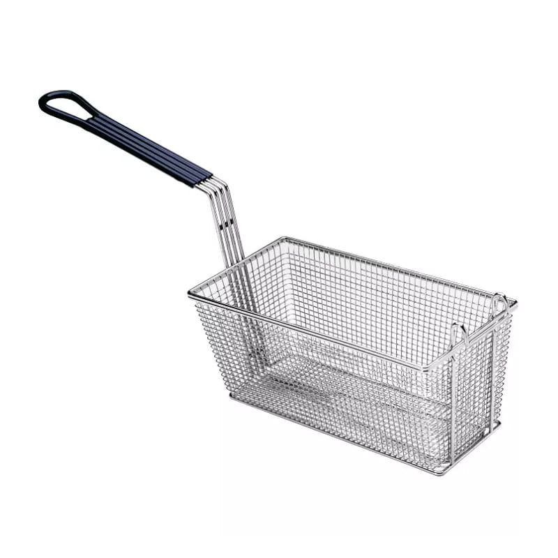 "Pitco P6072184 Fryer Basket w/ Coated Handle & Front Hook, 17.25"" x 8.5"" x 5.75"""