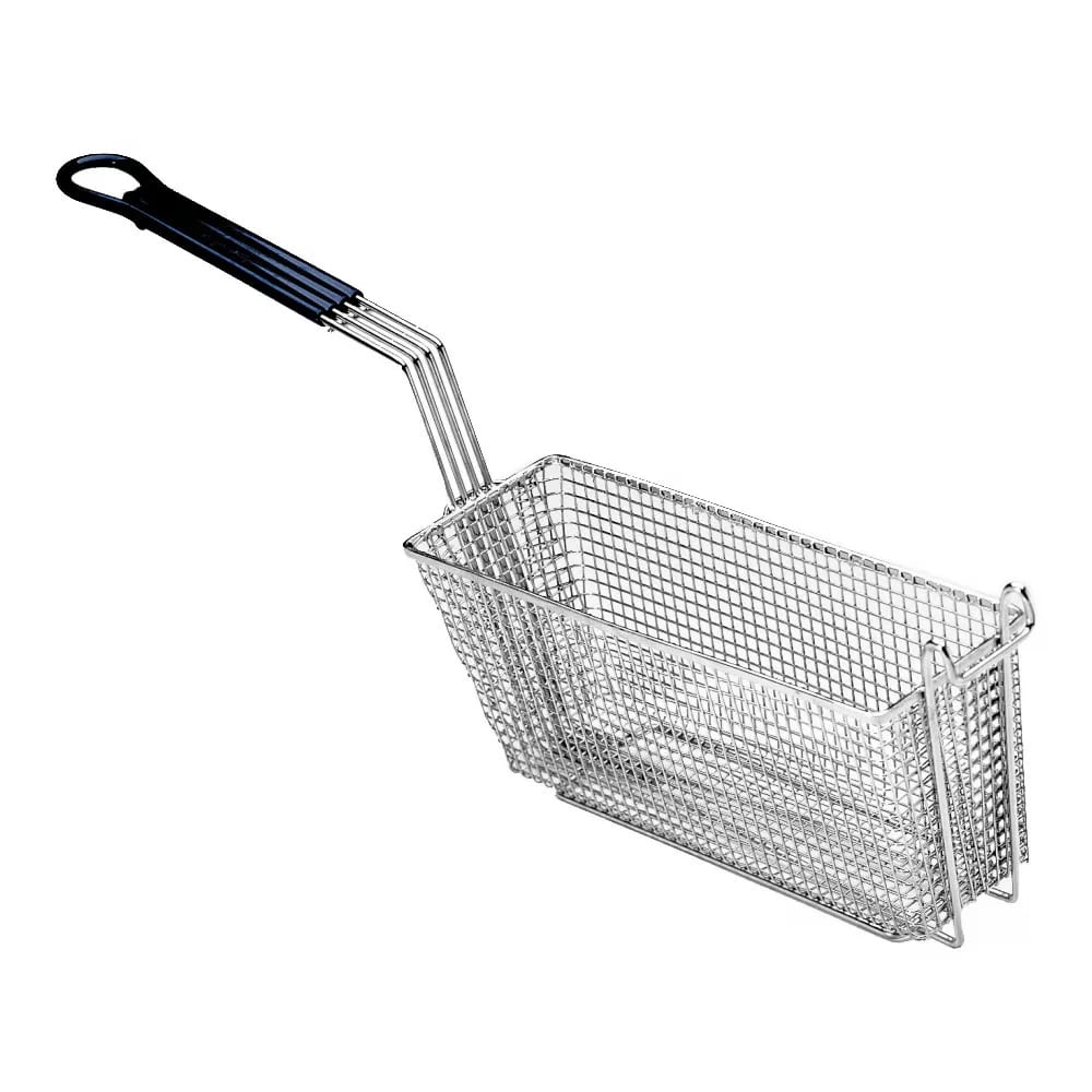 """Pitco P6072185 Fryer Basket w/ Uncoated Handle & Front Hook, 17.25"""" x 5.5"""" x 5.75"""""""