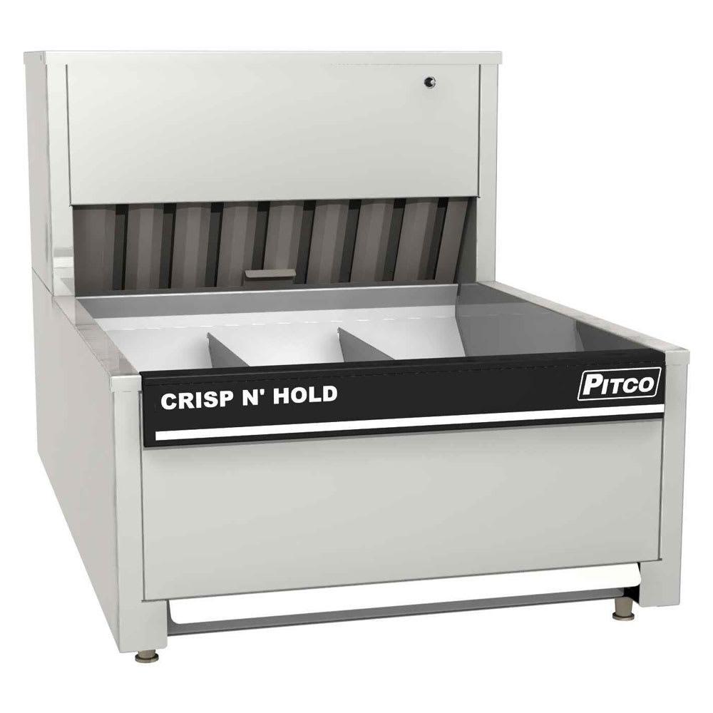 "Pitco PCC-18 18"" Crisp 'N Hold™ Countertop Fry Warmer Dump Station - Underburner, 120v"