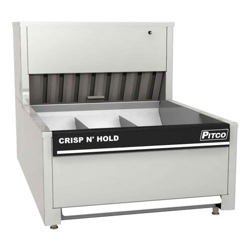 "Pitco PCC-28 28"" Crisp 'N Hold™ Countertop Fry Warmer Dump Station - Underburner, 208v/1ph"