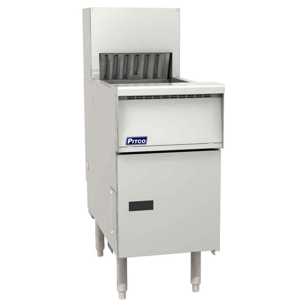 "Pitco PCF-14 14"" Crisp 'N Hold™ Floor Model Fry Warmer Dump Station - Underburner, 120v"
