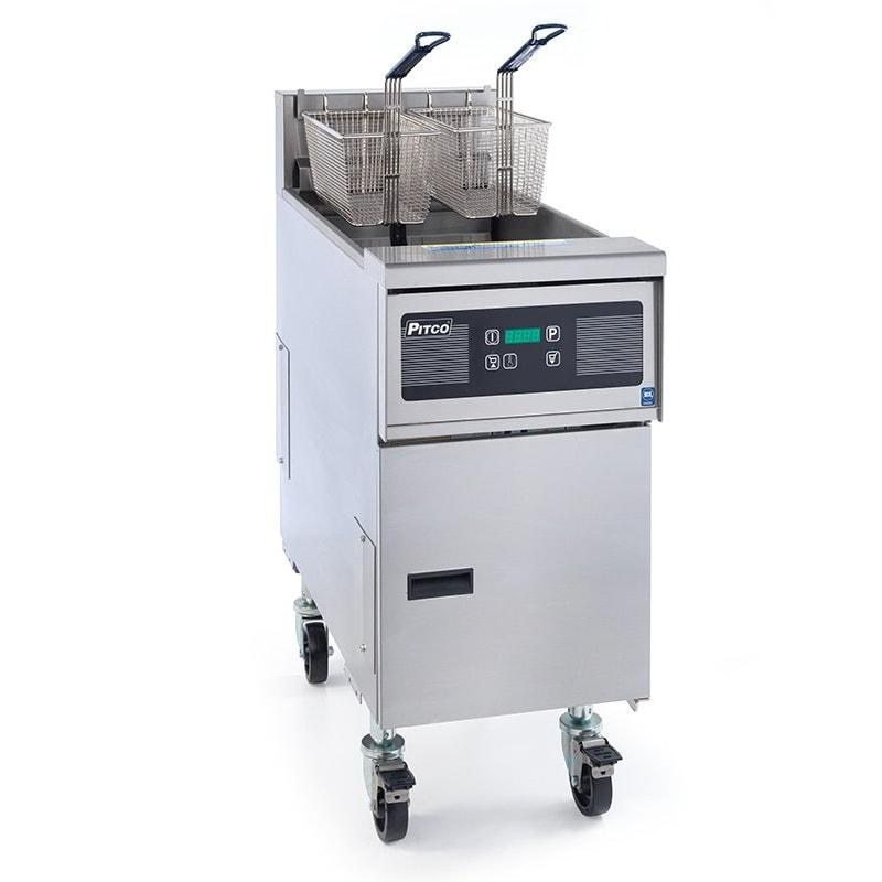 Pitco SE14RS-1FD Electric Fryer - (1) 50 lb Vat, Floor Model, 208v/3ph