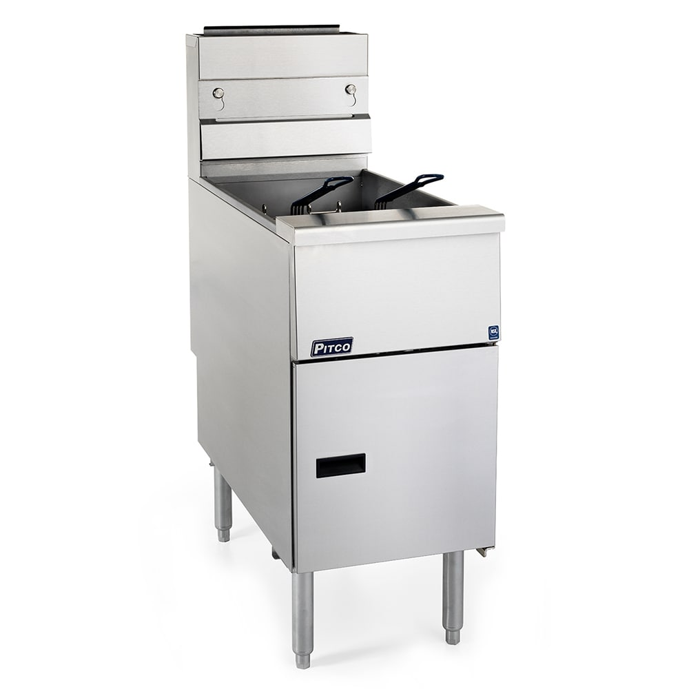 Pitco SG14RS Gas Fryer - (1) 50 lb Vat, Floor Model, NG