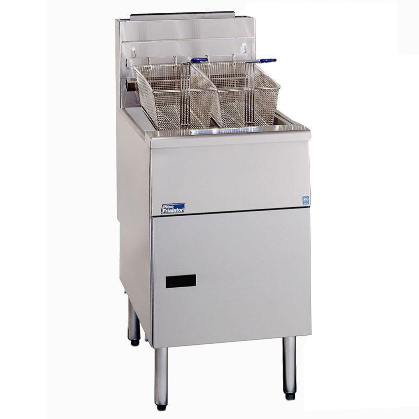 Pitco SG18-SS Gas Fryer - (1) 90-lb Vat, Floor Model, NG