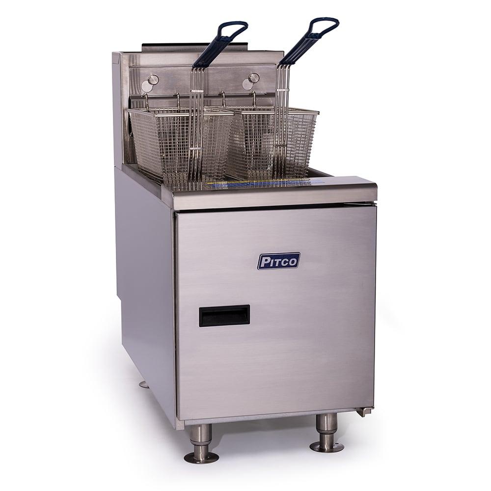 Pitco SGC-S Countertop Gas Fryer - (1) 35 lb Vat, LP