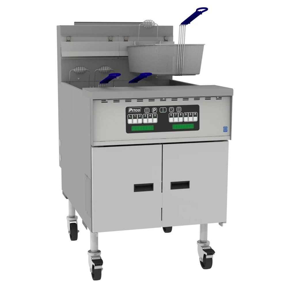 Pitco SGM24 Gas Fryer w/ (1) 150 lb Vat, Floor Model, NG