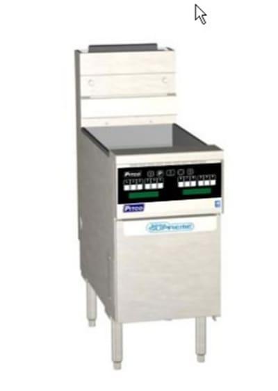 Pitco SSH75-SSTC-S Gas Fryer - (1)75-lb Vat, Floor Model, NG